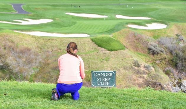 Lisa steep cliff